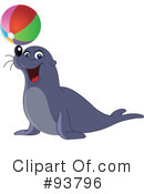 Royalty-Free (RF) Sea Lion Clipart Illustration #93796