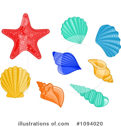 Scallop Clipart #1094020 by Vector Tradition SM