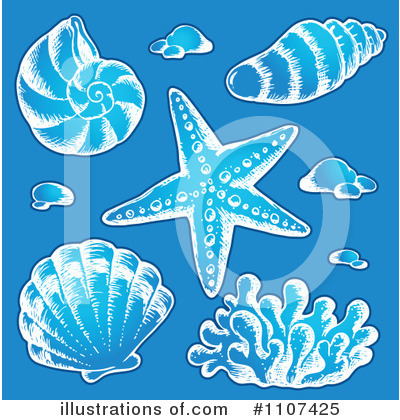 Sea Shells Clipart #1107425 by visekart