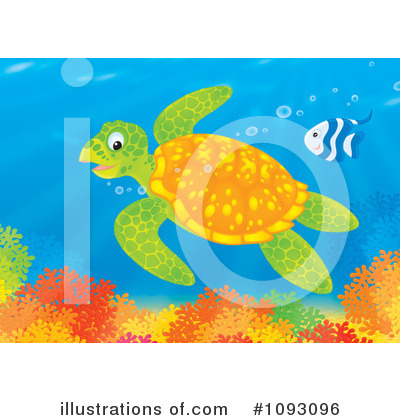 Sea Turtle Clipart #1093096 by Alex Bannykh