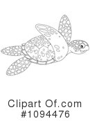 Royalty-Free (RF) sea turtle Clipart Illustration #1094476