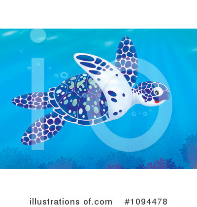 Sea Turtle Clipart #1094478 by Alex Bannykh