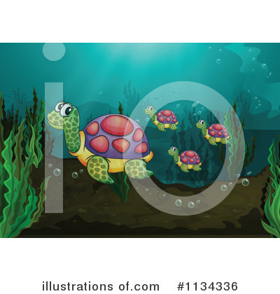 Sea Turtle Clipart #1134336 by Graphics RF