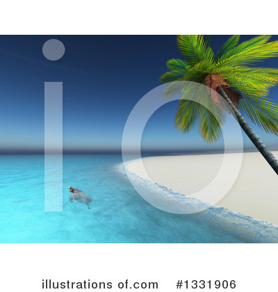 Beach Clipart #1331906 by KJ Pargeter