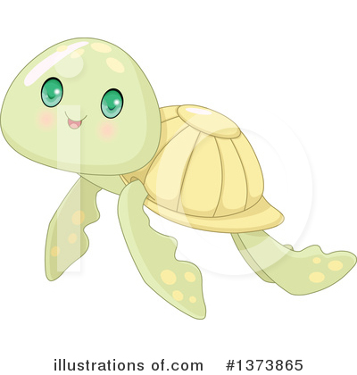 Sea Turtle Clipart #1373865 by Pushkin