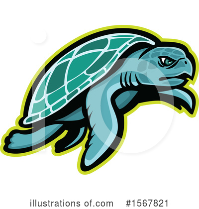 Royalty-Free (RF) Sea Turtle Clipart Illustration by patrimonio - Stock Sample #1567821