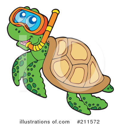 Sea Turtle Clipart #211572 by visekart