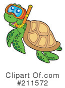 Royalty-Free (RF) Sea Turtle Clipart Illustration #211572