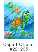 Royalty-Free (RF) sea turtle Clipart Illustration #221235