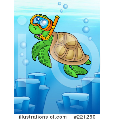 Sea Turtle Clipart #221260 by visekart