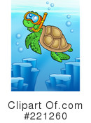 Royalty-Free (RF) Sea Turtle Clipart Illustration #221260