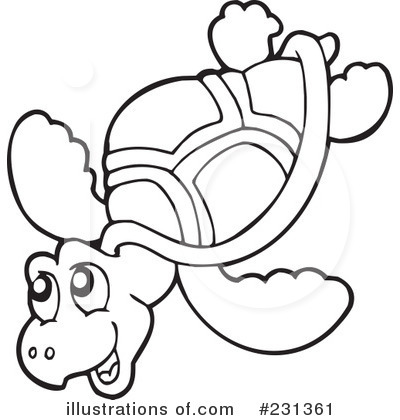 Turtle Clipart Black And White