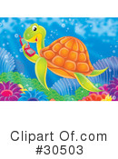 Royalty-Free (RF) sea turtle Clipart Illustration #30503