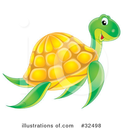 Sea Turtle Clipart #32498 by Alex Bannykh