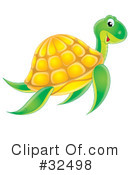 Royalty-Free (RF) Sea Turtle Clipart Illustration #32498