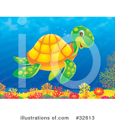 Sea Turtle Clipart #32613 by Alex Bannykh