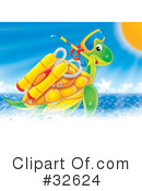 Royalty-Free (RF) Sea Turtle Clipart Illustration #32624