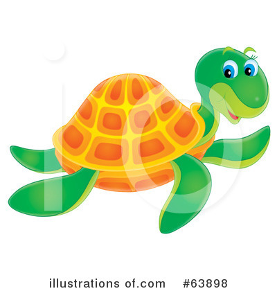 Sea Turtle Clipart #63898 by Alex Bannykh