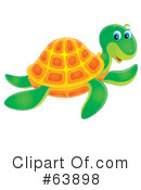 Royalty-Free (RF) Sea Turtle Clipart Illustration #63898