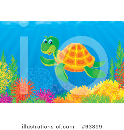 Sea Turtle Clipart #63899 by Alex Bannykh