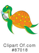 Royalty-Free (RF) Sea Turtle Clipart Illustration #87018
