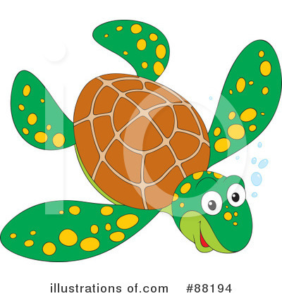 Sea Turtle Clipart #88194 by Alex Bannykh