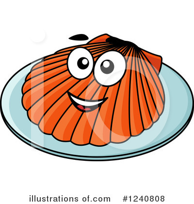 Scallop Clipart #1240808 by Vector Tradition SM