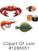 Seafood Clipart #1286051 by Vector Tradition SM