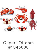 Seafood Clipart #1345000 by Vector Tradition SM