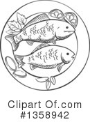 Seafood Clipart #1358942 by Vector Tradition SM
