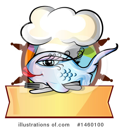 Chef Fish Clipart #1460100 by Domenico Condello