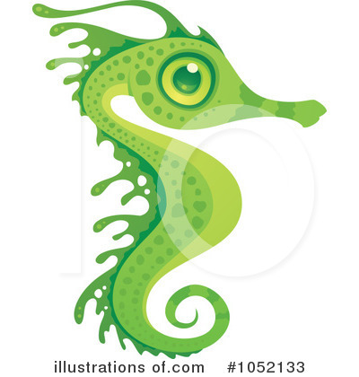 Royalty-Free (RF) Seahorse Clipart Illustration by John Schwegel - Stock Sample #1052133
