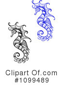 Royalty-Free (RF) Seahorse Clipart Illustration #1099489