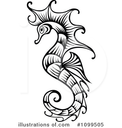 Seahorse Clipart #1099505 by Vector Tradition SM