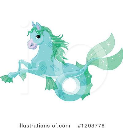 Royalty-Free (RF) Seahorse Clipart Illustration by Pushkin - Stock Sample #1203776
