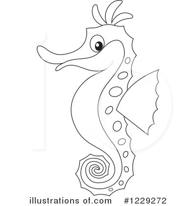 Seahorse Clipart #1229272 by Alex Bannykh