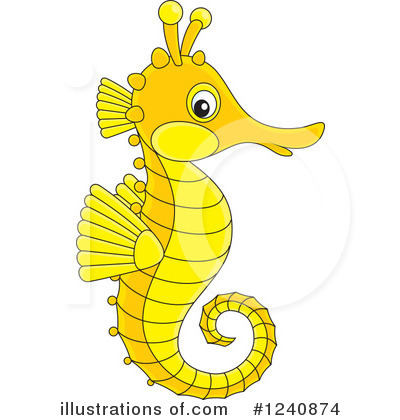 Seahorse Clipart #1240874 by Alex Bannykh