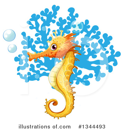 Seahorse Clipart #1344493 by Graphics RF