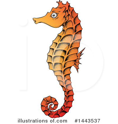 Royalty-Free (RF) Seahorse Clipart Illustration by cidepix - Stock Sample #1443537