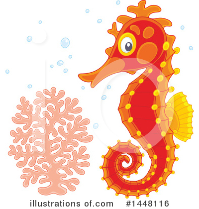 Seahorse Clipart #1448116 by Alex Bannykh