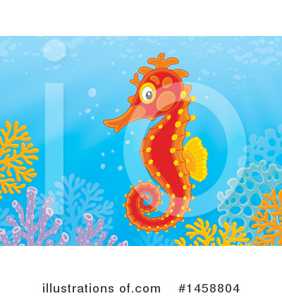 Seahorse Clipart #1458804 by Alex Bannykh