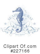 Royalty-Free (RF) Seahorse Clipart Illustration #227166