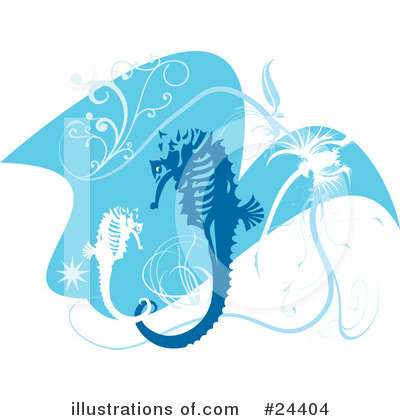 Royalty-Free (RF) Seahorse Clipart Illustration by Eugene - Stock Sample #24404