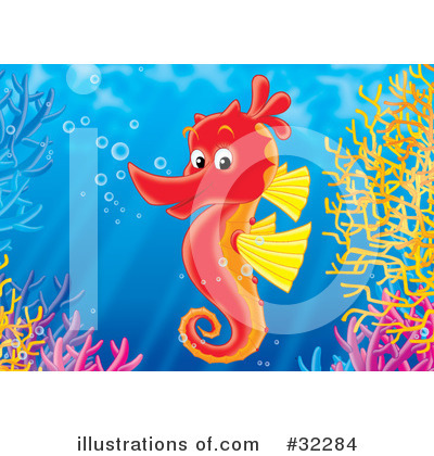 Seahorse Clipart #32284 by Alex Bannykh