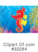 Royalty-Free (RF) Seahorse Clipart Illustration #32284