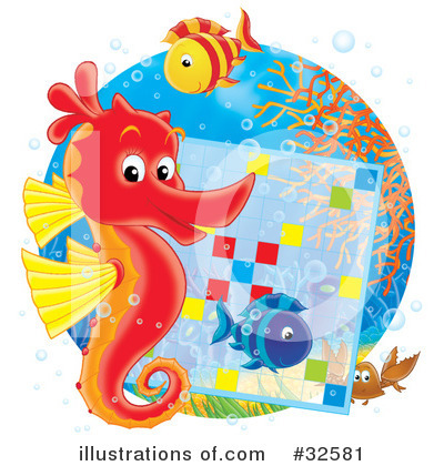 Seahorse Clipart #32581 by Alex Bannykh