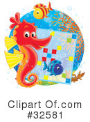 Royalty-Free (RF) Seahorse Clipart Illustration #32581