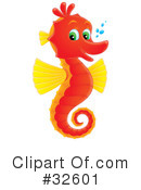 Royalty-Free (RF) Seahorse Clipart Illustration #32601