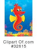 Royalty-Free (RF) Seahorse Clipart Illustration #32615