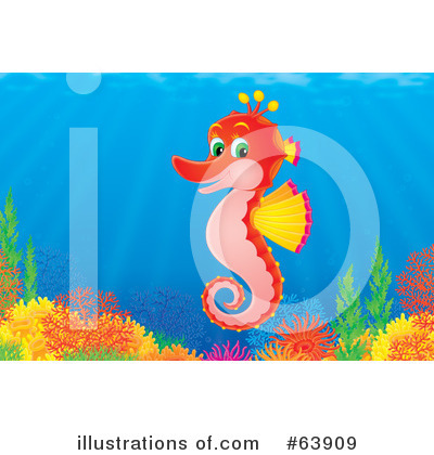 Seahorse Clipart #63909 by Alex Bannykh